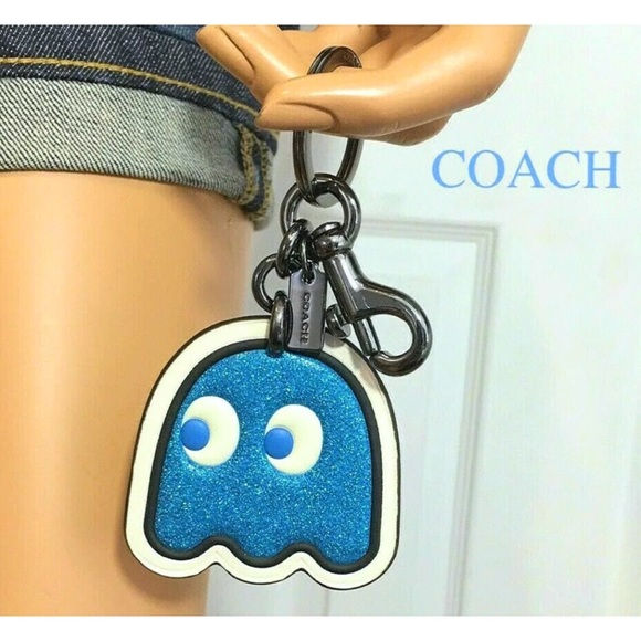 Coach Accessories - Coach PACMAN Keychain Inky Ghost Bag Charm
